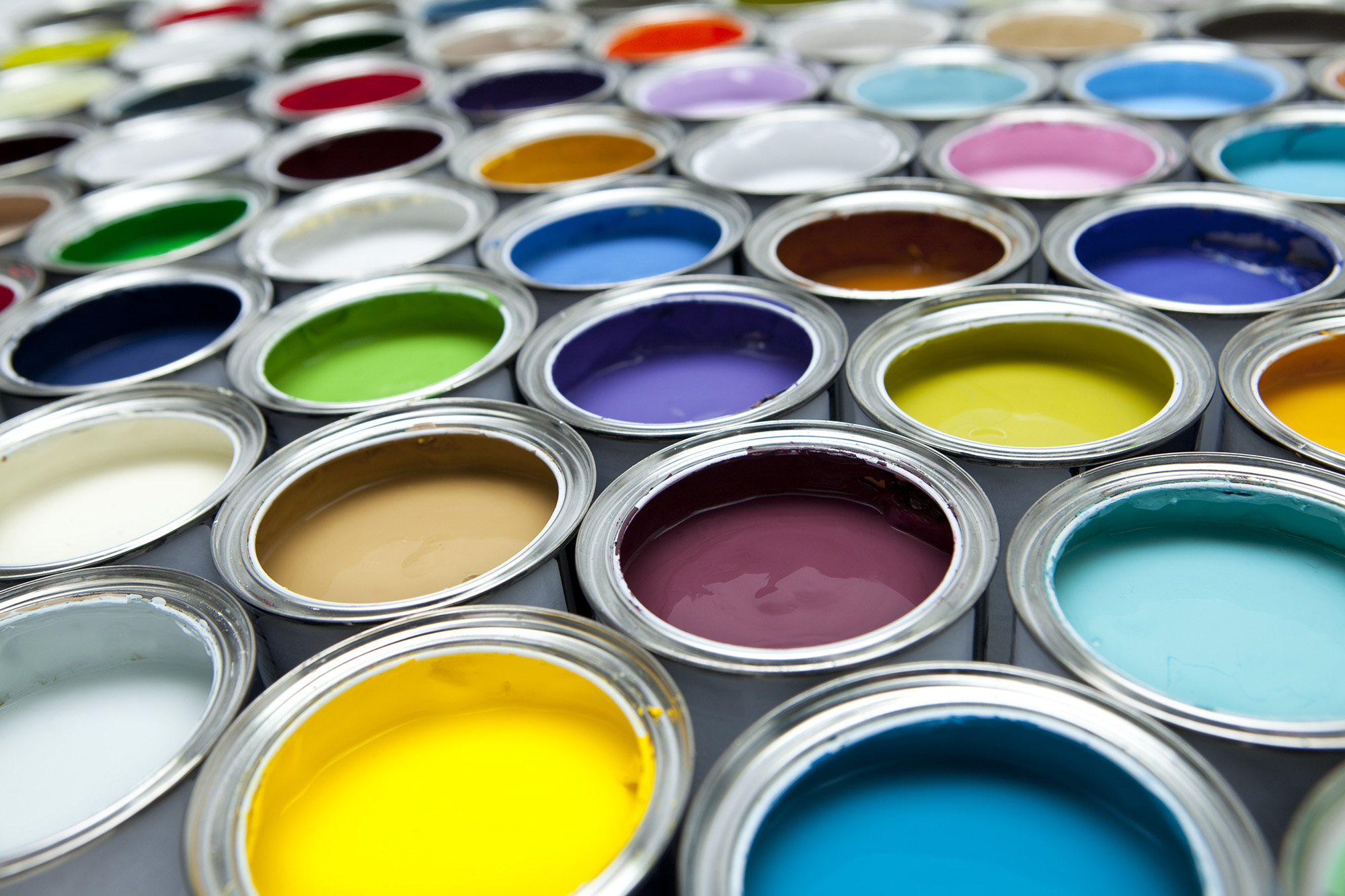 Colourful paint pots hd free foto for Free photo paint