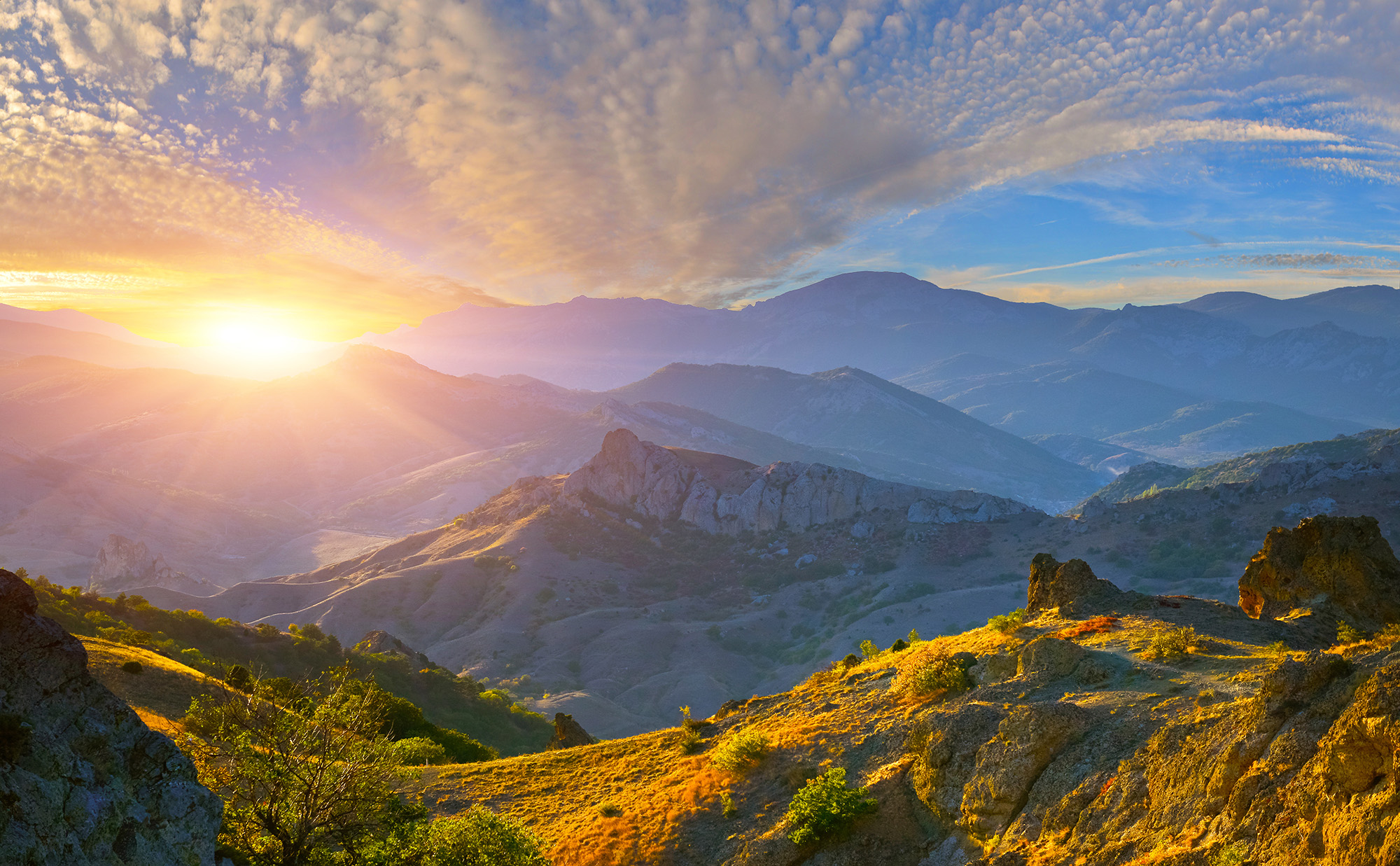 Mountain Sunrise | HD Free Foto