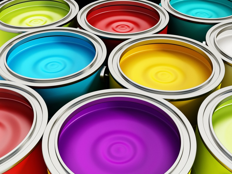 Paint, Painting, Can, Decorating, Art, Tin, Circle, Red, Green, Yellow, Blue, Strength, secondary, Curve