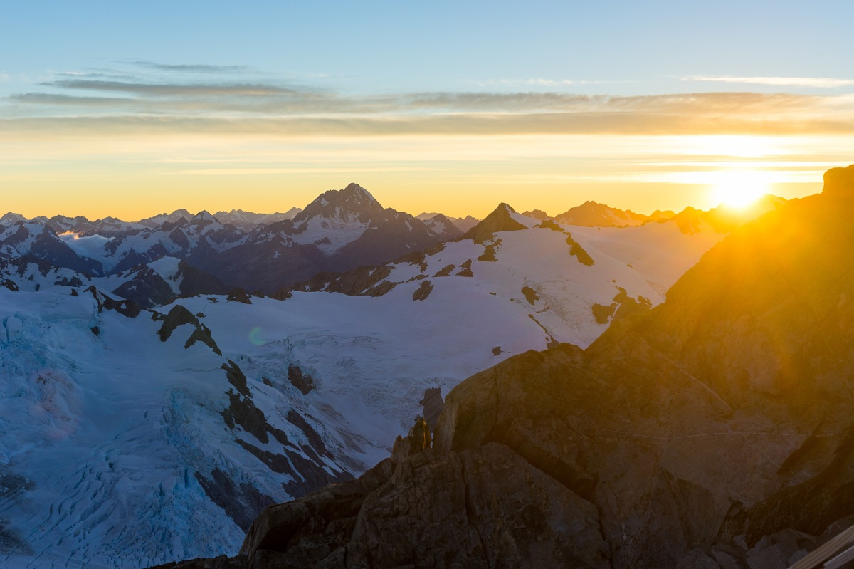 Snowy mountains | HD Free Foto Sunset Over Snowy Mountains